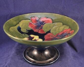 MOORCROFT Hibiscus Bowl Tazza / Comport