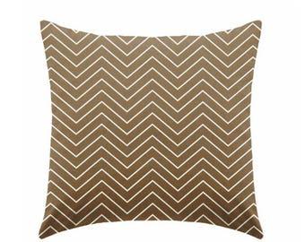 20% OFF SALE Caramel brown pillow covers, chocolate brown pillows,  decorative pillows, brown pillow, chevron pillow, euro sham ZIPPER Closu