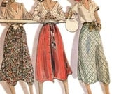 McCall's 6467 Vintage 1980s set of flared midi skirts sewing pattern