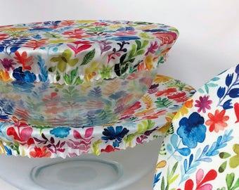 Reusable Bowl Covers, Garden Flowers