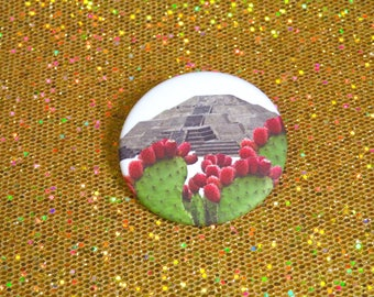 Pyramid of the moon pinback button