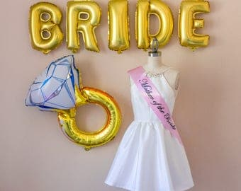 Mother of the Bride, Bridal Party, Bridesmaid Sash, Mother of the Groom, Bachelorette Party, Pink, Girl's Night Out,  Black, Hen Party
