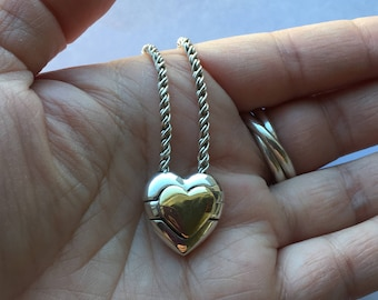 Authentic Tiffany and Co Heart Sterling 18k Puzzle Necklace!