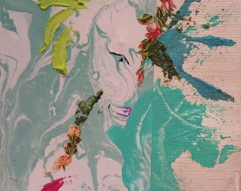 Art Photos - Flower #3 - Mixed Media Collage