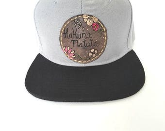 Hakuna matata snap back hat unique hat gift for him gift for her baseball hat festival accessories