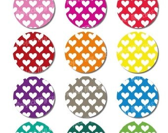 50% OFF CUPCAKE TOPPERS Rainbow heart - Instant Download - Cake bunting - Party decoration