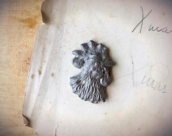 Vintage Lead Rooster Head