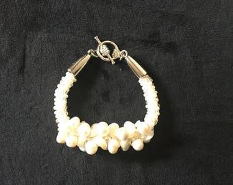 Ivory Kumihimo Bracelet