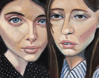 We Two - Original oil painting on canvas