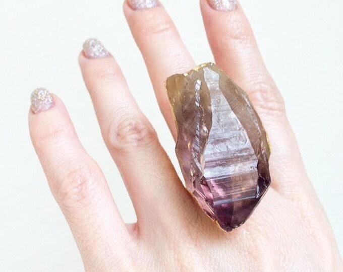 Raw Amethyst Ring, Size 5