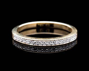 Timeless Pave Set Diamond Wedding Band in Yellow Gold