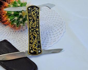 Vintage PenKnife, Folding Pocketknife, Groomsmen Gift, Outdoorsman Hunting,  multi-pocketknife, Small Pocket Knife, Multi-tool Knife