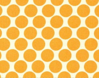 Lotus by Amy Butler for Rowan Fabrics - Polka Dots in Tangerine, Orange - 100% Cotton