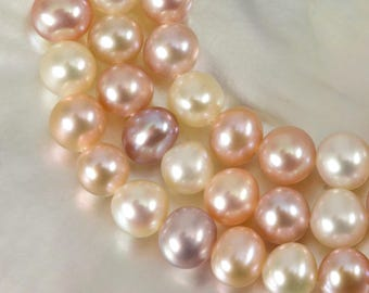 "15.94"" FRESHWATER PEARLS Strand Lustrous Multi-Color Potato Nugget China 20.91 g"