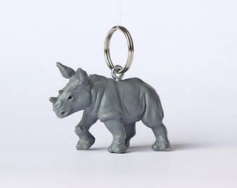 "SALE Key chain ""Rhino"""