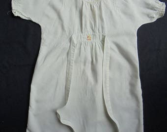 Vintage Clydella Viyella Baby Nightgown or  Nightdress Embroidered Duck - 1950 1960's