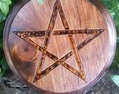 Altar Pentacle - Altar Tile - Altar Paten - Wiccan Altar - Pentacle Altar