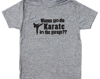 Karate In Garage Step Brothers Movie Funny Catalina Wine Mixer Boats And Hoes Men's Tri-Blend T-Shirt DT1223