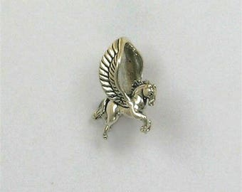 Sterling Silver 3-D Pegasus Charm or Pendant
