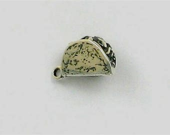 Sterling Silver 3-D Taco Charm
