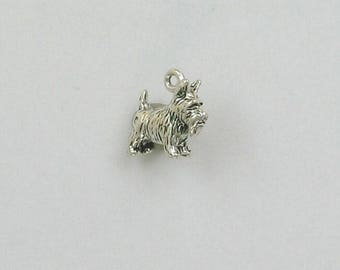 Sterling Silver 3-D Scotty Dog Charm