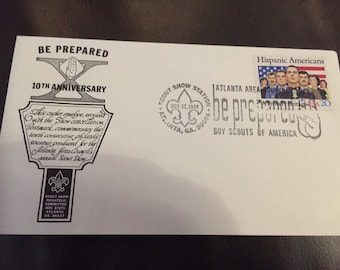 10th Anniversary Atlanta Area Council annual Scout Show  First Day of Issue envelope