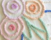 Chenille, bedspread, cotton bedspread, twin, twin bed, chenille bedspread, pastel chenille, twin bedding, twin bedspread, cotton bedding