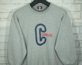 Vintage Converse All Star Sweatshirt Size Medium M / Converse Sweater / Converse Shoes Sweater / Converse Sweatshirt