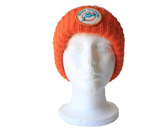 80's Vintage Miami Dolphins Cuffed Beanie