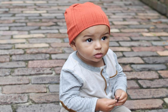 Burnt Orange Slouchy Baby Beanie - Orange Baby Boy Beanie - Orange Baby Boy Hat - Orange Baby Girl Beanie - Orange Baby Girl Hat - Beanie