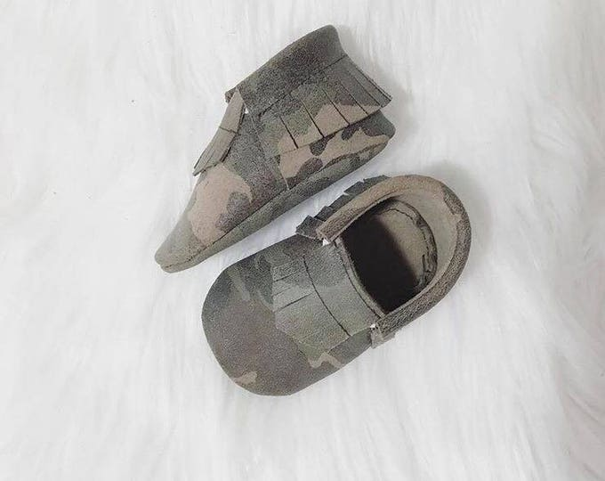 Camouflage Baby Moccasins