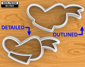 Donald Duck Hat Cookie Cutter, Detailed Or Outlined, Selectable sizes.