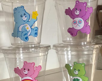 Care Bears 12 oz party cups with lids