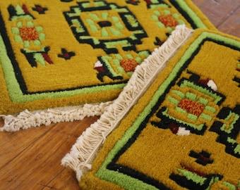 Set of 2 Tibetan Square Meditation Rug