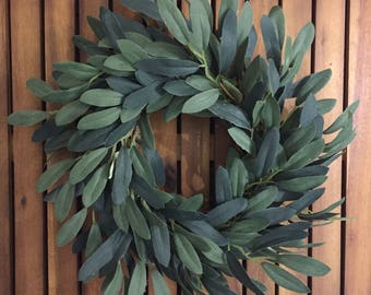 Farmhouse Faux Olive Wreath | Olive Wreath | Farmhouse Decor | Fixer Upper Style