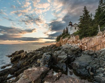 Bass Harbor Light - Maine - Metal or Canvas Photo