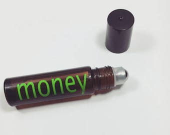 Money Oil - Spiritual Essential Oil Blend - Good Luck - Good Fortune - Abundance - Prosperity - Free Shipping - Peppermint Oil - Basil Oil