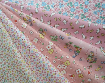 """Bundle of 1/8 USA 30's Collection Fabric. Approx 9"""" x 21"""""""