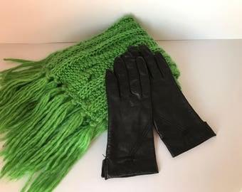 Black Leather Gloves * Womens Driving Gloves * Womens Leather Gloves  * Ladies Gloves * Genuine Leather * Womens Winter Gloves