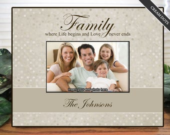 Family Picture Frame - Personalized Family Picture Frame