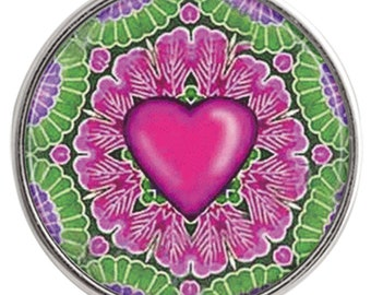 C1053  Art Glass Print Chunk - LoveHeart