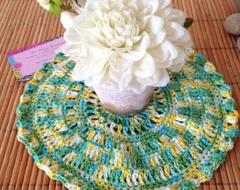 CLEARANCE - Doily mandala decoration, crochet cotton