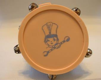 1930's Plastic Drum Baby Rattle (E154)