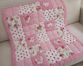 Handmade  Patchwork Baby Quilt - Play Mat