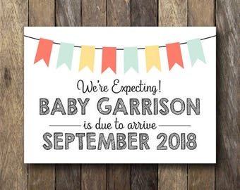 Printable Pregnancy Announcement Sign - Pregnancy Reveal - Printable Pregnancy Announcement - Pregnancy Reveal Sign - Pregnancy Reveal Card