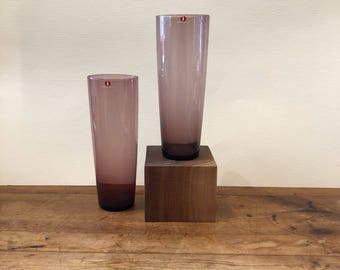 Tapio Wirkkala Tall Glasses for Iittala Finland c1960s Purple