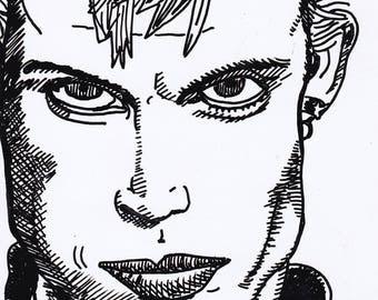 Billy Idol - original drawing