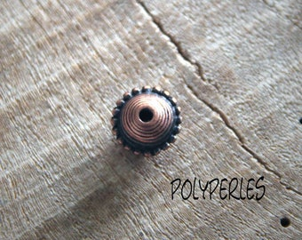 Metal material shape copper bicone beads
