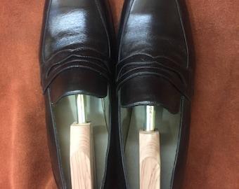 David Espinoza calfskin penny loafer style men's dress shoes 11 D