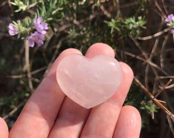 Rose Quartz Heart - Puffy - Natural Polished Healing Love Metaphysical Crystal